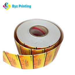 Adesivos para embalagens de alimentos on-line-A etiqueta rolada etiqueta a etiqueta adesiva impressa costume do empacotamento de alimento com por atacado