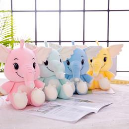 meninas elefantes Desconto Menina bonito Para Baixo Algodão Elefante Boutique Presente de Aniversário Boneca de Pelúcia Recheado Brinquedos Animal Do Bebê Acompanha Sono Brinquedo Para As Crianças
