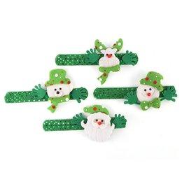 оптоволоконная легкая игрушка Скидка Рождественские украшения 4styles Рождество похлопывая Круг Рождество Дети подарков Санта-Клаус снеговика оленей Новый год партия игрушки оптом TJY958