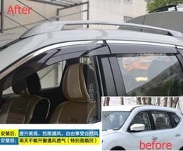 cubierta mazda espejo Rebajas Lapetus para Nissan X-Trail X Trail / Rogue 2014 - 2016 Viseras para ventanas Toldos Protector de lluvia soleado Protector Moldura Adorno de guarnición