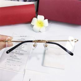 Gafas de animales online-Las gafas más vendidas enmarcan las piernas de las gafas ópticas ultraligeras chapadas en oro del marco 18k para hombres gafas de estilo empresarial de alta calidad con box3645642