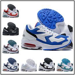 Zapatos ligeros de entrenamiento online-[Con reloj deportivo]2019 Designer shoes men women Nike AIR MAX New Max2 Light OG zapatillas de running para hombre blanco transpirable azul zapatillas de entrenamiento para hombre