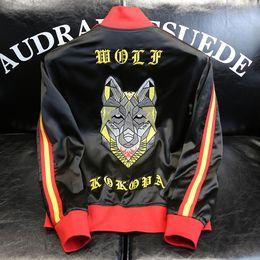 2019 uniformes do cão 2019 Primavera Outono Mens Designer Jaquetas de Volta Cartas de Cabeça de Cão de Alta Qualidade Bordado Uniforme De Beisebol Jaqueta De Luxo Fino Plus Size M-3XL desconto uniformes do cão