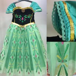New congelado Vestidos verde Baby Vestidos childdren Kawaii Adorável bonito miúdos dos desenhos animados Nova Vestidos Marca de Fornecedores de vestido de crochet branco longo