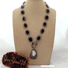 H042801 54/'/' White Pearl Agate Crystal Necklace