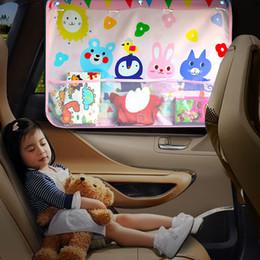 sombra para janelas do carro Desconto Universal Car Sun Sombra dos desenhos animados Capa Cortina Ventosa prova janela lateral do pára-sol tampa para o bebê Crianças Stroller Acessórios