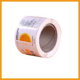 Paquete personalizado de rollos latas etiqueta autoadhesiva etiqueta adhesiva de vinilo personalizado etiqueta adhesie de papel blanco desde fabricantes