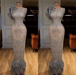 Abiti soiree muslim online-African Grey borda i vestiti da sera per Matrimoni 2020 robe de soiree Aibye musulmana Pageant abiti turco Prom Gowns Abendkleider