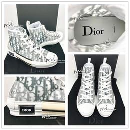 sapatas verdes bonitas das mulheres Desconto HIGH-TOP Dior X KAWS por Kim Jones Design Com Moda oblíqua clássico Impressão Logos Homens Mulheres de basquete Sapatos Shoes Skate