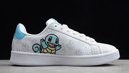 pig bowl Promo Codes - Pocket Monsters 2020 Squirtle Warm pig Pika Women Men Cartoon Shoes Fashion Smith Casual shoes Size 36-44