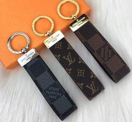 honda jade Rebajas 3 colores diseñador de moda marca de fábrica famosa hecha a mano de cuero de la PU del coche llavero Mujeres del encanto del bolso accesorios pendientes con la caja amei63a