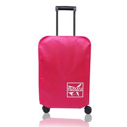 Coperture impermeabili della valigia online-Accessori per valigie per esterni Copertura per valigie in tessuto non tessuto Protezione da viaggio impermeabile a prova di polvere Anti-graffio addensato