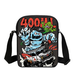 fashion sling bag girls Promo Codes - Children School Bags For Girls Boys Small Sling Book Bags Fashion 3D Printing Crossbody Casual Mini Messenger Bookbags