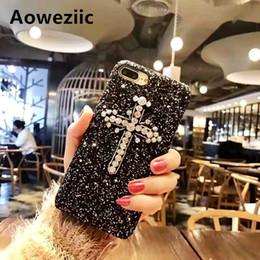 Amerikanisches mädchen telefon online-Heiße amerikanische Gezeitenmarke Luxuspersönlichkeitskreuz für iPhone X XS MAX XR 8 6S plus Handyfälle 7plus Shellmädchen