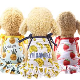 Abbigliamento da dhl online-Summer Dog Apparel 6 Designs Animali domestici Canottiere senza maniche Canottiere Animali domestici Canottiere in cotone Magliette Animali Articoli per abbigliamento 50 Set DHL