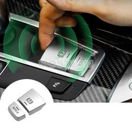 2019 coberturas do travão de mão Tampa do botão de AUTO H do gancho de mão eletrônico interno do console para BMW 7 séries F01 F02 desconto coberturas do travão de mão