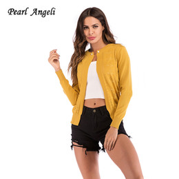 cappotto a bottone Sconti New Knit Cardigan omen Singolo Button Outwear Hook fiore hollow Full Sleeve Slim Maglione Cappotto Femminile Open Knitted Sweater Femme