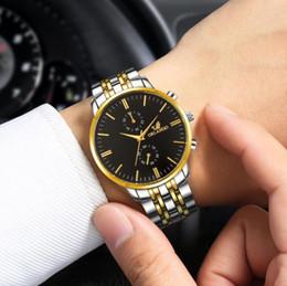 Escalas simples online-Reloj de escala simple para hombre Nuevo reloj de cuarzo de moda ORLANDO Reloj de pulsera de acero inoxidable chapado en oro para hombre Reloj Relogio Masculino para hombre