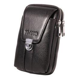 bc2e2b1903 Cinghia della vita del cuoio genuino delle cellule / sacchetto del gancio del  telefono cellulare Cinghia della borsa della borsa di caso dei piccoli  soldi ...