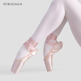 2019 venta de zapatos de bailarina A1B1 Sales Satin Ballet Pointe Shoes Zapatillas de baile con bailarinas para bailarinas profesionales para damas. venta de zapatos de bailarina baratos