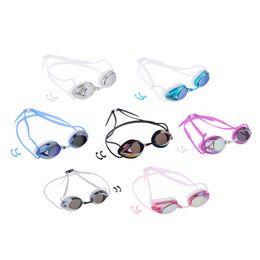 Argentina Elegante antiniebla Gafas de natación Gafas de protección UV Gafas de natación Gafas con clip de nariz Para el deporte acuático Equipo de ayuda para entrenamiento Unisex supplier sports training aids Suministro