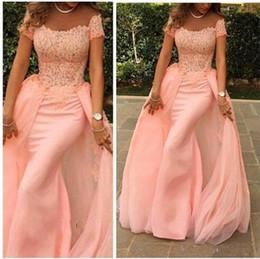 d4a37a8353d3e3 red lace peplum top Coupons - Elegant Long Formal Evening Dress 2018  Mermaid Scalloped Cap Sleeve