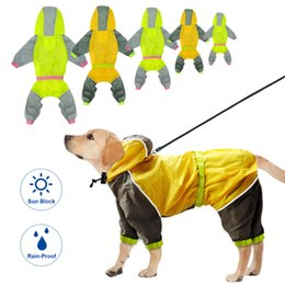 Водонепроницаемый плащ для собак Светоотражающие собаки Дождевик Безопасность Дождевики Комбинезоны для собак Пончо Одежда Для маленьких средних и больших домашних собак от