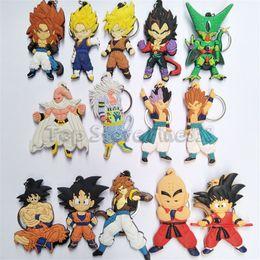drachenkugel anime schlüsselanhänger Rabatt Dragon Ball PVC Schlüsselanhänger Japanische Cartoon Anime Comic Muten Roshi kuririn Goku Anhänger porta chaves mans kid Schmuck geschenk Spielzeug