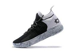mejores zapatos kd Rebajas Zapatillas de baloncesto 2018 All Star Black White BHM University Red City Series KD 11 hombres de baloncesto de calidad superior zapatillas de deporte La mejor calidad dan