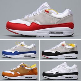 Animales amarillos online-Nike Air Max 1 Anniversary Premium Sc DLX ATMOS 1 87 Parra Sean casuales zapatos para hombre azul Wotherspoon aire del paquete animales 1s 87s Leopard Classic Athletic mujeres
