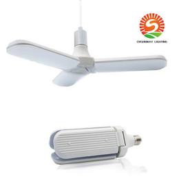 2019 ventiladores de flujo Bombilla LED de tres hojas Aspa del ventilador plegable Plegable de alta definición Flujo constante Baldosa de pie Bombilla de iluminación interior Sensor de radar Luz Ener de casa ventiladores de flujo baratos