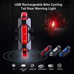 Scatole posteriori online-Luce di sicurezza per bicicletta Luce fanale posteriore per fanaleria posteriore Impermeabile Super Bright LED Flashlight Luce di posizione posteriore di ricarica USB con scatola packag LJJZ44