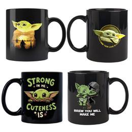 tazas de peliculas Rebajas 15 nuevos estilos de película bebé Yoda tazas de cerámica del café tazas de té de bebé Yoda Taza de agua marca de gran capacidad Vaso Copa B1 301-400ml