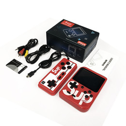 Leitor portátil on-line-400 em Um SUP Mini Handheld Console de Vídeo Game Suporte Duplo Jogadores Portáteis Nostálgico Game Player 3.0 Polegada Display AV Saída