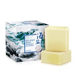 Sabonetes para lavar rosto on-line-Atualizado 100g de Sabonete Sal Marítimo CleanerTreatment Leite de Cabra Hidratante Lavar o Rosto Sabão Cuidados Com A Pele Sabonete Artesanal