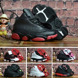 promo code 5289d 9a41e Nike air jordan 13 retro Kinder 13 13s Basketballschuhe Kinder Junge  Mädchen 13s Bred Chicago Flint Pink Sport Turnschuhe Kinder Weihnachten ...