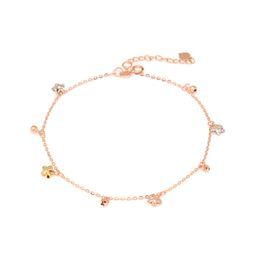 Joyas de moda 18 quilates de oro rosa color oro colgando estrella de cinco puntas cadena de abalorios con láser 18k modelos femeninos desde fabricantes