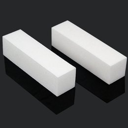 2019 acrylique à ongles blanc 10 x acrylique blanc Nail Art Tips Buffing Buffing Sanding Block Files Outil de manucure acrylique à ongles blanc pas cher