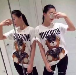 Teddy bear t shirts online-T-shirt di design da donna di lusso T-shirt stile classico Maglietta a maniche corte T-shirt con stampa Teddy Bear Top da tempo libero