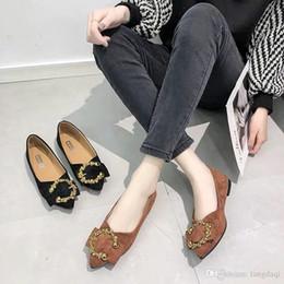 scarpe da lavoro professionali Sconti Shallow bocca scarpe a punta singola donne primavera 2019 nuova versione coreana di un lavoro professionale casual scarpe marea scarpa per bambini