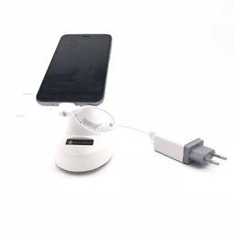 Дисплей зарядки мобильного телефона онлайн-(30 компл. / Лот) магазины мобильных телефонов отображают зарядку и подставку для датчика тревоги для безопасности мобильных магазинов