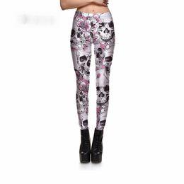 fiore m Sconti Nuove donne di arrivo di Leggings Skullpeach Blossom Leggings Pantaloni di stampa digitale Pantaloni Stretch Pants Commerci all'ingrosso di buona qualità