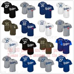 Bolas azuis on-line-Homens Mulheres Jovens Dodgers Jersey 22 Clayton Kershaw Crianças 35 Cody Bellinger Jersey Jersey Branco Cinza Cinza Bkack Azul Verde saudação a