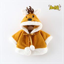 poncho fille de fleur Promotion 2020 Designer-New Girls Fur Cape Coral Oreilles de lapin en polaire avec capuche Veste mignon cheveux boule d'hiver Furry99930