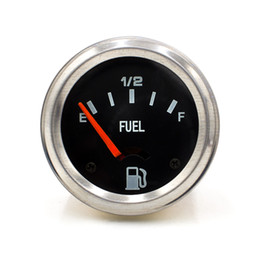 Misura 52mm online-2 '' 52mm 12V DC Indicatore livello carburante Indicatore livello carburante elettrico Meccanico Indicatore livello auto E-1/2-F