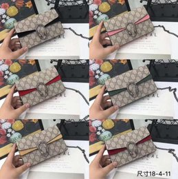 ladies small wallet Promo Codes - 2019 fashion ladies shoulder bag chain messenger bag high quality handbag wallet designer cosmetic bag handbag size 14 * 21 * 6 with box