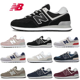 scarpe zapatillas in esecuzione Sconti zapatillas new balance 574 scarpe firmate donna uomo Chaussures Triple Black Wine Blu scuro Marrone sneaker uomo Sports Running Casual Sneakers vintage 36-44