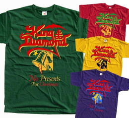 Король футболки даймонд т онлайн-King Diamond No Presents for Christmas T-Shirt RED GREEN PURPL V2 All size S-5XL