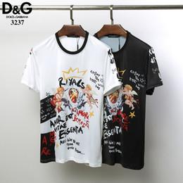 high-end-t-shirts männer Rabatt Designer Explosion Männer Casual Baumwolle Rundhals Print Kurzarm High-End-T-Shirt Mode Persönlichkeit Baumwolle Boden Shirt DT3237