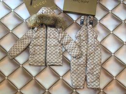 2019 crianças vestindo roupas quentes Kid_dress 2018 novo Inverno crianças roupas meninos define meninas Quente parka jaqueta para crianças roupas casaco de neve desgaste crianças terno 0818 crianças vestindo roupas quentes barato